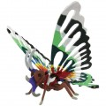 "3D пазл ""Бабочка"" деревянный (конструктор-раскраска в комплекте с красками)"