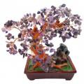 Бонсай 27 см Аметист (дерево счастья из натуральных камней)