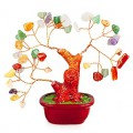 Бонсай 14 см Микс камней (дерево счастья из натуральных камней)