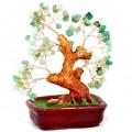 Бонсай 20 см Нефрит (деревце счастья из натуральных камней)