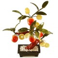 """""""Персик с монетками"""" бонсай 25 см (дерево счастья)"""
