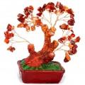 Бонсай 18 см Сердолик (деревце счастья из натуральных камней)