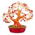 Бонсай 20 см Сердолик (дерево счастья из натуральных камней)