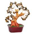 Бонсай 20 см Тигровый глаз (дерево счастья из натуральных камней)