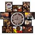"""Часы с фото """"Аромат кофе"""" (настенные часы-коллаж с фоторамками)"""