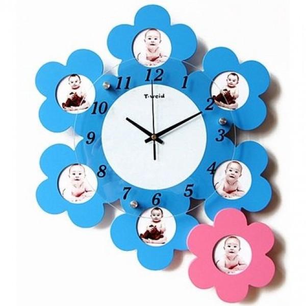 """Часы с фото """"Цветы жизни"""" (настенные часы-фоторамка) - 1"""