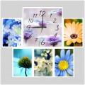"""Часы с фото """"Дыхание лета"""" (настенные часы-коллаж с фоторамками)"""