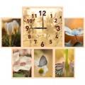 """Часы """"Лирика"""" с фоторамками (настенные часы-коллаж)"""
