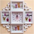 """""""Соцветие"""" настенные часы с фоторамками"""