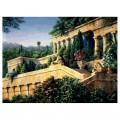 "40*50 см ""Античный сад"" картина-раскраска по номерам на холсте"
