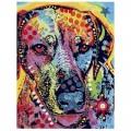 """40*50 см """"Цветной пёс"""" картина-раскраска по номерам на холсте"""