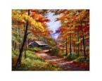 """40*50 см """"Дом в осеннем лесу"""" картина-раскраска по номерам на холсте"""