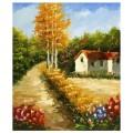 "40*50 см ""Дом в лесу"" картина-раскраска по номерам на холсте"