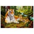 """40*50 см """"Лесные тигры"""" картина-раскраска по номерам на холсте"""