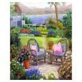 """40*50 см """"Летний сад"""" картина-раскраска по номерам на холсте"""