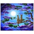 "40*50 см ""Лунная ночь"" картина-раскраска по номерам на холсте"