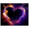 """""""Огненное сердце"""" 40*50 см картина-раскраска по номерам на холсте"""
