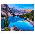 """40*50 см """"Озеро Морейн"""" картина-раскраска по номерам на холсте"""