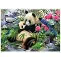 """40*50 см """"Панда с малышом"""" картина-раскраска по номерам на холсте"""
