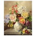 """40*50 см """"Разноцветье"""" картина-раскраска по номерам на холсте"""