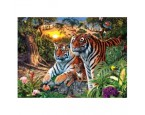 "40*50 см ""Тигры"" картина-раскраска по номерам на холсте"