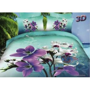 """Комплект постельного белья """"Селика"""" 3D сатин (100% хлопок)"""