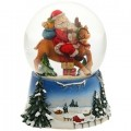 """Музыкальный шар """"На олене"""" со снегом"""