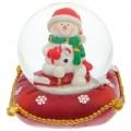 "Шар ""Снеговик на подушке"" снежный"