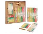"""Набор """"Краски"""" подарочный (ежедневник, блокнот, бумага для записей, авторучка)"""