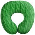 """Подушка """"Косички"""" зеленая под шею антистресс (дорожная подушка-подголовник для путешествий)"""