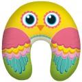 """""""Птица счастья"""" жёлтая подушка антистресс под шею (дорожная подушка-подголовник для путешествий)"""