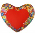 "Подушка-сердце ""Цветы"" антистресс"