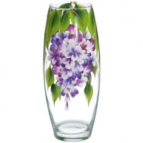 """Стеклянная ваза """"Сирень"""" 26 см"""