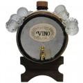 """Бочонок для вина """"Север"""" (3800 мл) с 6 рюмками (50 мл)"""