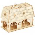 """Конструктор """"Дом с мебелью """" деревянный (кукольный домик-чемодан)"""