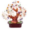 Бонсай 19 см Микс камней (дерево счастья из натуральных камней)