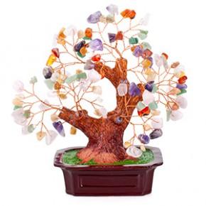 """Бонсай """"Микс камней"""" 19 см - дерево счастья (натуральные камни)"""