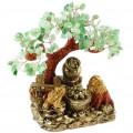 Бонсай 28 см Микс камней (дерево счастья из натуральных камней)