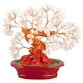 Бонсай 17 см Розовый кварц (дерево счастья из натуральных камней)