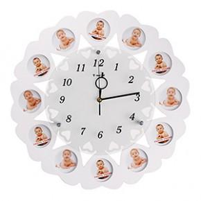 """Настенные часы-фоторамка """"12 месяцев"""""""