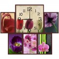 """Часы с фото """"Цветущий сад"""" (настенные часы-коллаж с фоторамками)"""
