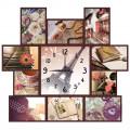 """Часы """"Радости жизни"""" (настенные часы-коллаж с фоторамками)"""
