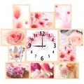"""Часы """"Розовый сон"""" (настенные часы-коллаж с фоторамками)"""
