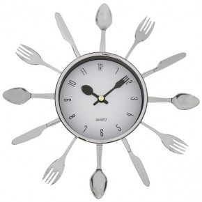 """Серебристые настенные часы """"Со вкусом"""""""