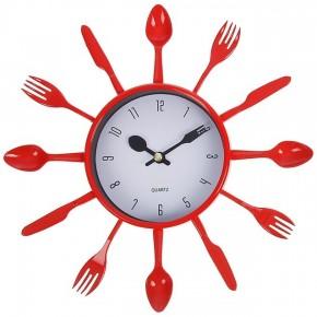 """Красные настенные часы """"Со вкусом"""""""