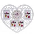 """""""В моём сердце"""" настенные часы с фоторамками"""