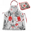 """Набор """"Париж"""" в подарочной коробке (фартук и прихватка)"""