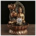 """Фонтан """"Будда с лотосами"""" настольный декоративный с подсветкой"""