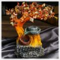 """""""Денежное дерево"""" бонсай-фонтан (дерево счастья из камней и декоративный настольный фонтан с подсветкой) микс"""