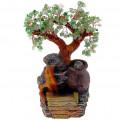 """Бонсай-фонтан """"Кувшинчик"""" (дерево счастья из камней и декоративный настольный фонтан с подсветкой)"""